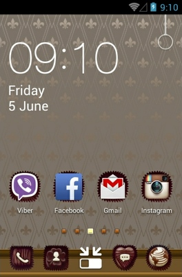 Chocolate android theme