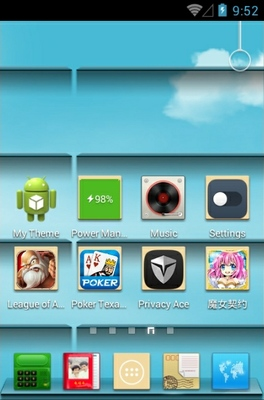Memories Of Youth android theme home screen