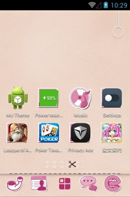 Cute android theme home screen