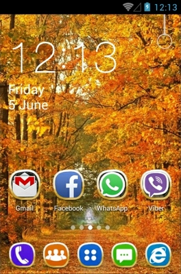 Autumn android theme home screen