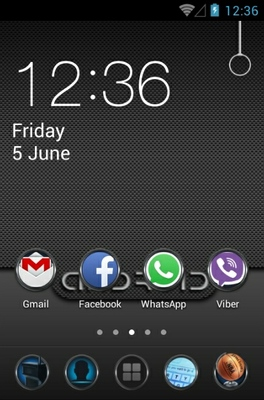 android theme 'Android Carbon'