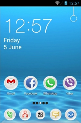 Underwater android theme home screen