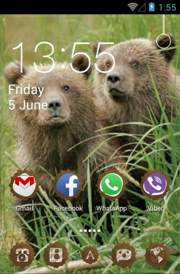 Bear android theme home screen