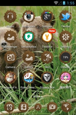 Bear android theme application menu