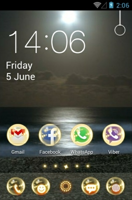 Moonlight android theme home screen