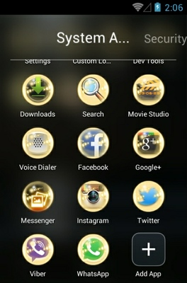 Moonlight android theme application menu