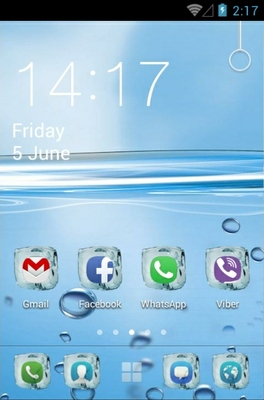 Water android theme home screen