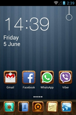 Room android theme home screen
