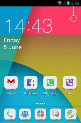 KitKat android theme home screen