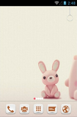 cute bunny android theme for 360launcher