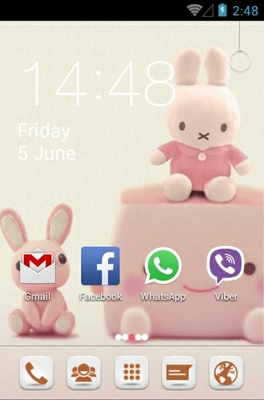 Cute Bunny android theme