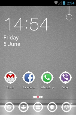 Atrix Grey Lights android theme home screen