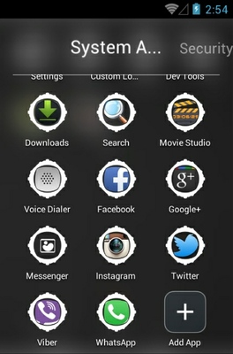 Atrix Grey Lights android theme application menu