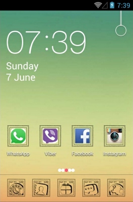 android theme 'Gradient'
