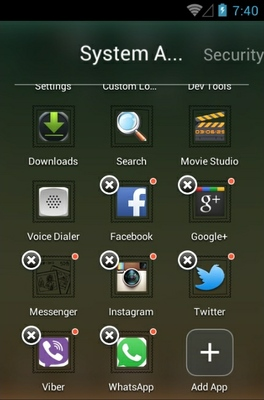 Gradient android theme application menu