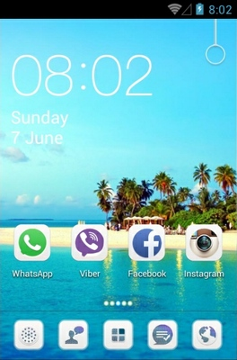 Island android theme home screen