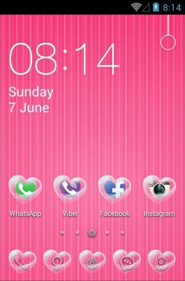 Heart Bubble android theme