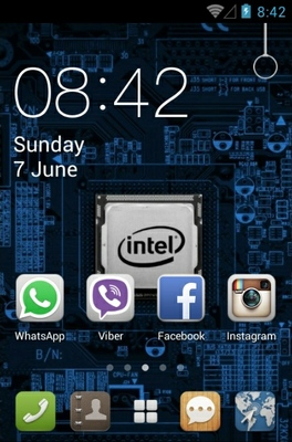 Intel Chip android theme home screen