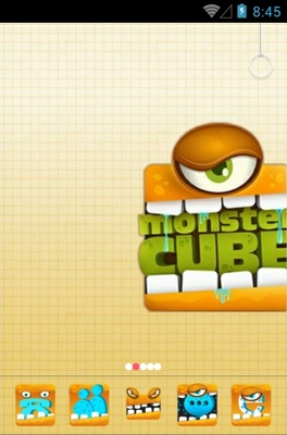 android theme 'Monster Cube'