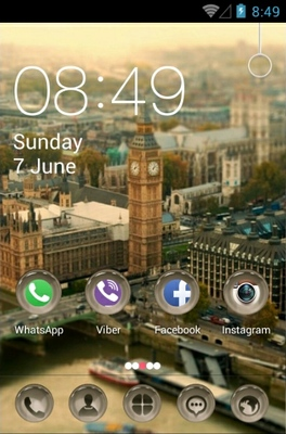 London android theme home screen