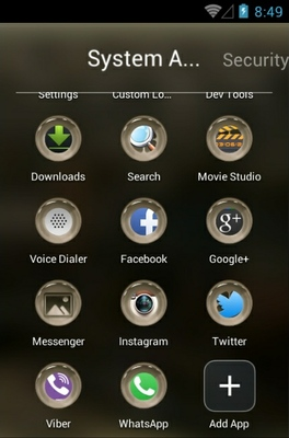 London android theme application menu
