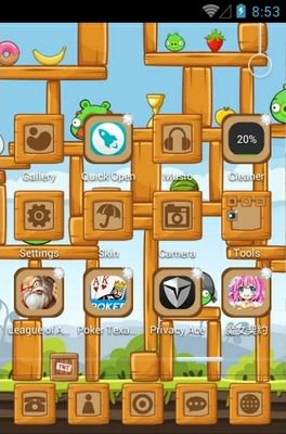 Angry Birds Pigs android theme