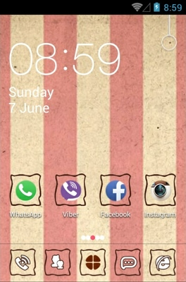 Paper android theme home screen