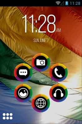 Loveisright android theme home screen