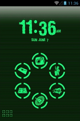 Green Phosphor Android Theme For Smart Launcher 2