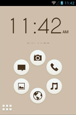 Bamboo Zen android theme home screen