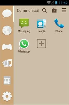 Bamboo Zen android theme application menu