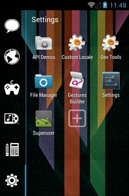Full Transparent android theme application menu
