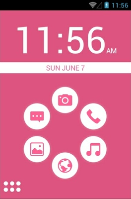 android theme 'Basic Pink'
