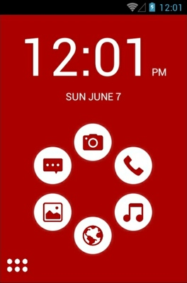 android theme 'Basic Red'