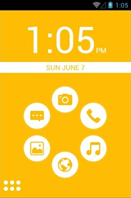 android theme 'Basic Yellow'
