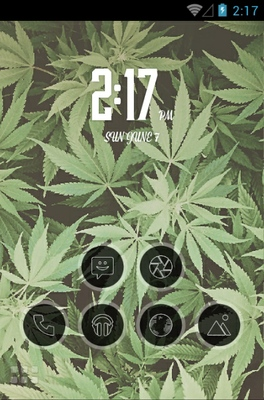 android theme 'Kush Weed'