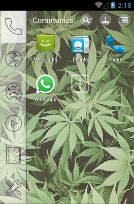 Kush Weed android theme application menu