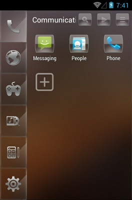 luminous android theme application menu