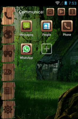 Forest Tale android theme application menu