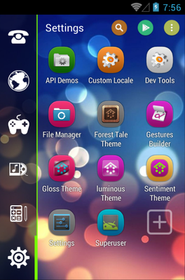 Sentiment android theme application menu