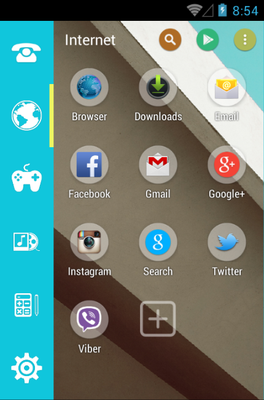 New Style android theme application menu
