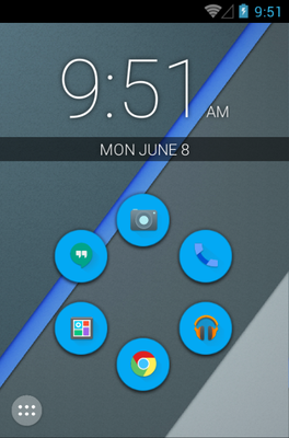 Minimal android theme home screen