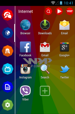 WPA android theme application menu