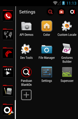 Blank On android theme application menu