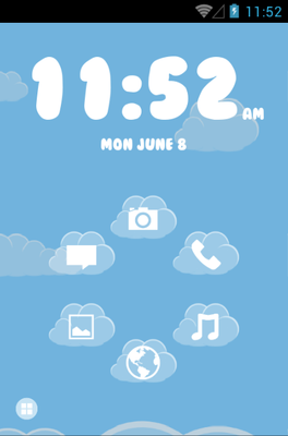 Sky android theme home screen