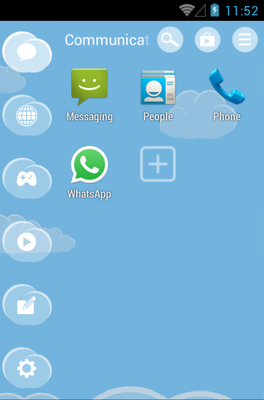 Sky android theme application menu