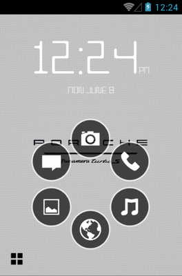 Porsche Panamera android theme home screen