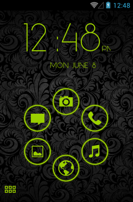 android theme 'Stamped Holo Green'