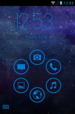 android theme 'Stamped Blue'
