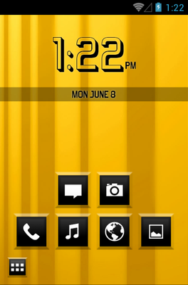 Raised Square android theme home screen